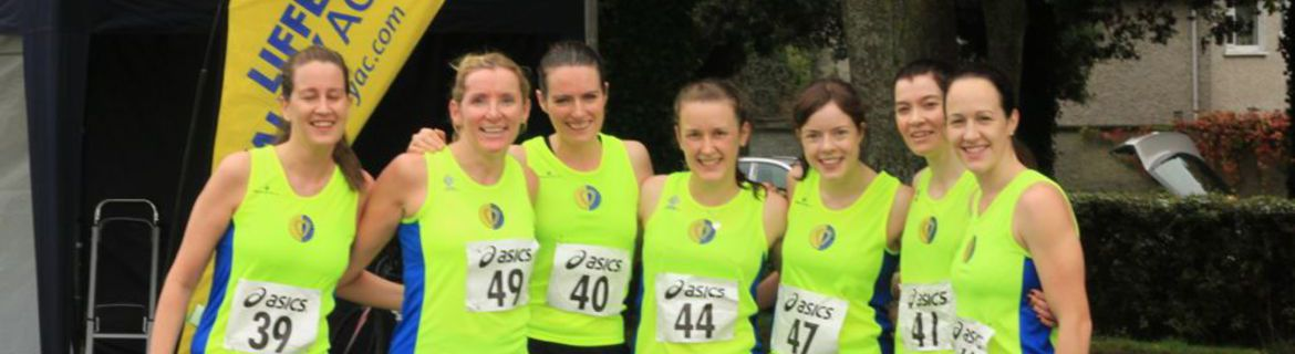 Our women's team at the Dublin Novice Cross Country